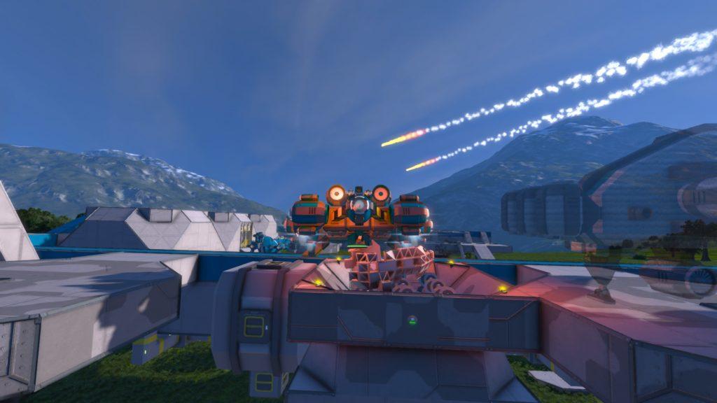 En esta imagen se puede ver como meteoritos surcan los cielos, un elemento que añade una dificultad añadida a la partida.